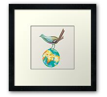 On her global trekking 3 Framed Print