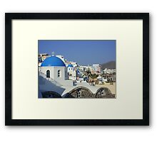 Oia, Santorini, Greece Framed Print