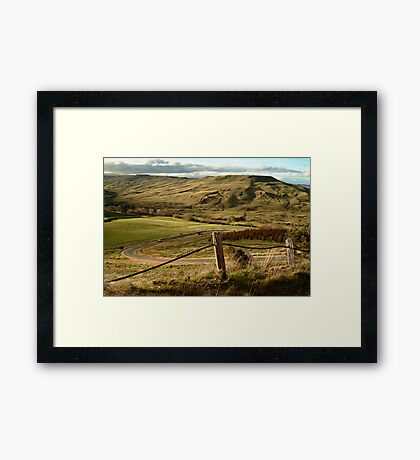 Valley Road Rowsley Framed Print