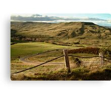 Valley Road Rowsley Canvas Print