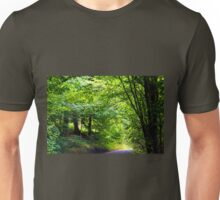 A drive through a road lined with Pretty trees Unisex T-Shirt