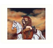 One Horse Art Print