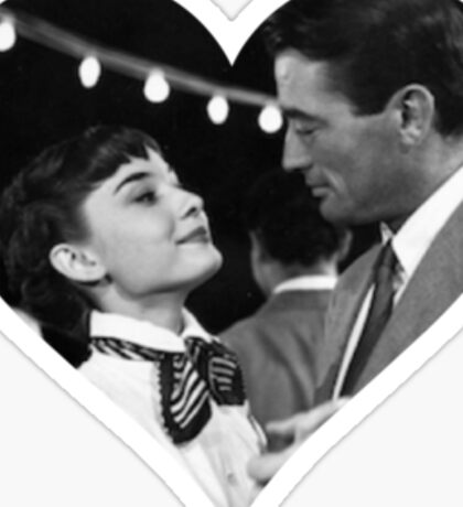 Audrey & Gregory - Roman Holiday Sticker