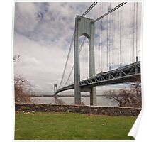 Verrazano Narrows Bridge viewed from Fort Wadsworth on Staten Island. Poster