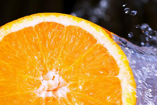 Orange Splash by Charlotte Lake