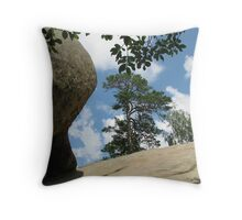 Living on the Rock Throw Pillow