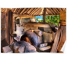 Retired old Chev Poster