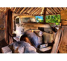 Retired old Chev Photographic Print