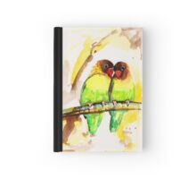 Masked Lovebird Pair Hardcover Journal