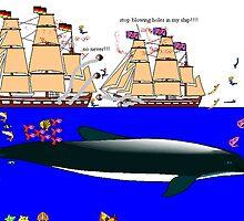 Sea Fighting by Dawid Groenenstein