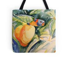 Lorikeet in Mango Tree Tote Bag