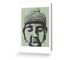 Buddha in Sage Green/Black Greeting Card