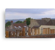Chimbleys all in a row Canvas Print