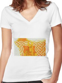 Anubis by Sarah Kirk Women's Fitted V-Neck T-Shirt