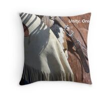 Unity, Oregon - Where the West is Wild Throw Pillow