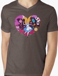 Alice in Wonderland Mens V-Neck T-Shirt