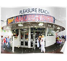 Blackpool Pleasure Beach Amusements Poster