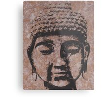 Buddha in Browns/Black Metal Print