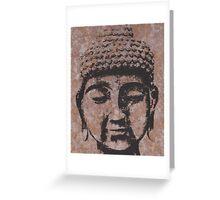 Buddha in Browns/Black Greeting Card