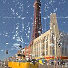 Blackpool Tower and Yellow Tram by Alistair Parker
