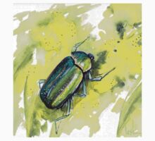 Green Scarab Beetle Kids Tee