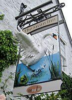 The Swan Inn pub sign, Tockington, Gloucestershire, UK by buttonpresser