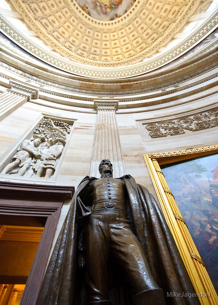 Andrew Jackson statue in US Capitol by MikeJagendorf