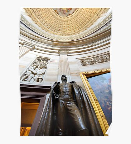 Andrew Jackson statue in US Capitol Poster