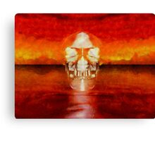 Crystal Skull by Sarah Kirk Canvas Print