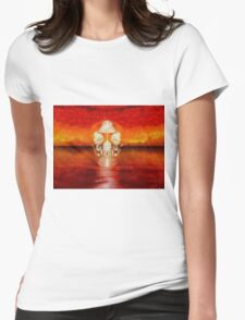 Crystal Skull by Sarah Kirk Womens Fitted T-Shirt