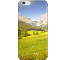 Summer meadow in the alps iPhone Case/Skin