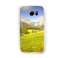 Summer meadow in the alps Samsung Galaxy Case/Skin