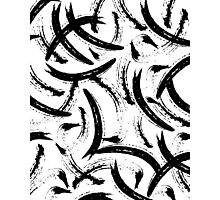 Isobel - Black and white minimal modern urban city brooklyn abstract painting art design hipster Photographic Print