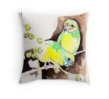 Fig Parrots Throw Pillow