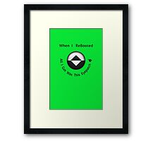 ReBoot - Enzos Eyepatch (Black) Framed Print