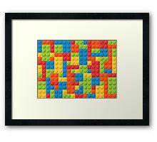 Lego Brick Pattern Framed Print