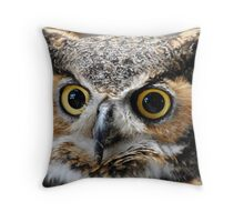 Great Horned Beauty Throw Pillow