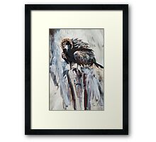 Eagle on Treestump Framed Print