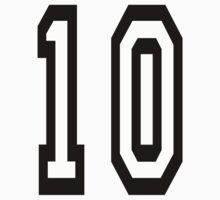 TEAM SPORTS NUMBER, 10, TEN, TENTH, Competition T-Shirt