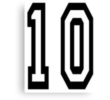 TEAM SPORTS NUMBER, 10, TEN, TENTH, Competition Canvas Print