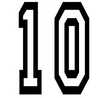 TEAM SPORTS NUMBER, 10, TEN, TENTH, Competition Photographic Print