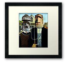 Easter Island Gothic Framed Print