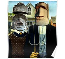 Easter Island Gothic Poster