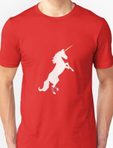 I Support Unicorns in Legwarmers Unisex T-Shirt