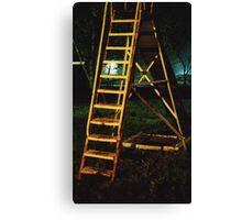 Night slide in Wakarusa Canvas Print