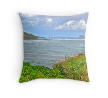 Kahana Rock, Molokai Throw Pillow