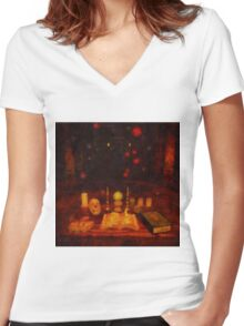 Magick by Sarah Kirk Women's Fitted V-Neck T-Shirt
