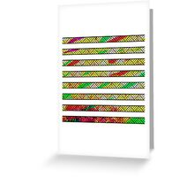 Neon & White Watercolor Lined Stripes Greeting Card