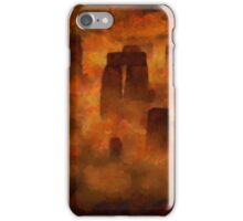 Stonehenge from Above by Sarah Kirk iPhone Case/Skin