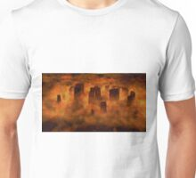 Stonehenge from Above by Sarah Kirk Unisex T-Shirt
